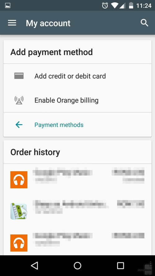 android how to change or add google play store payment methods