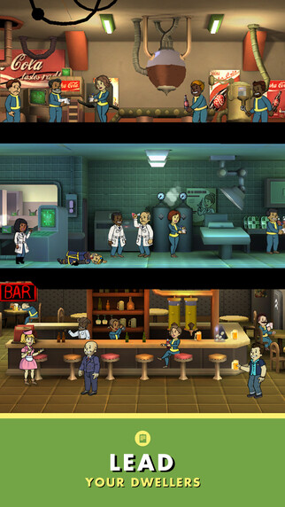 Fallout Shelter iOS game - Fallout 4 vault manager game lands on iOS, a Pip-Boy wearable for your phone to follow