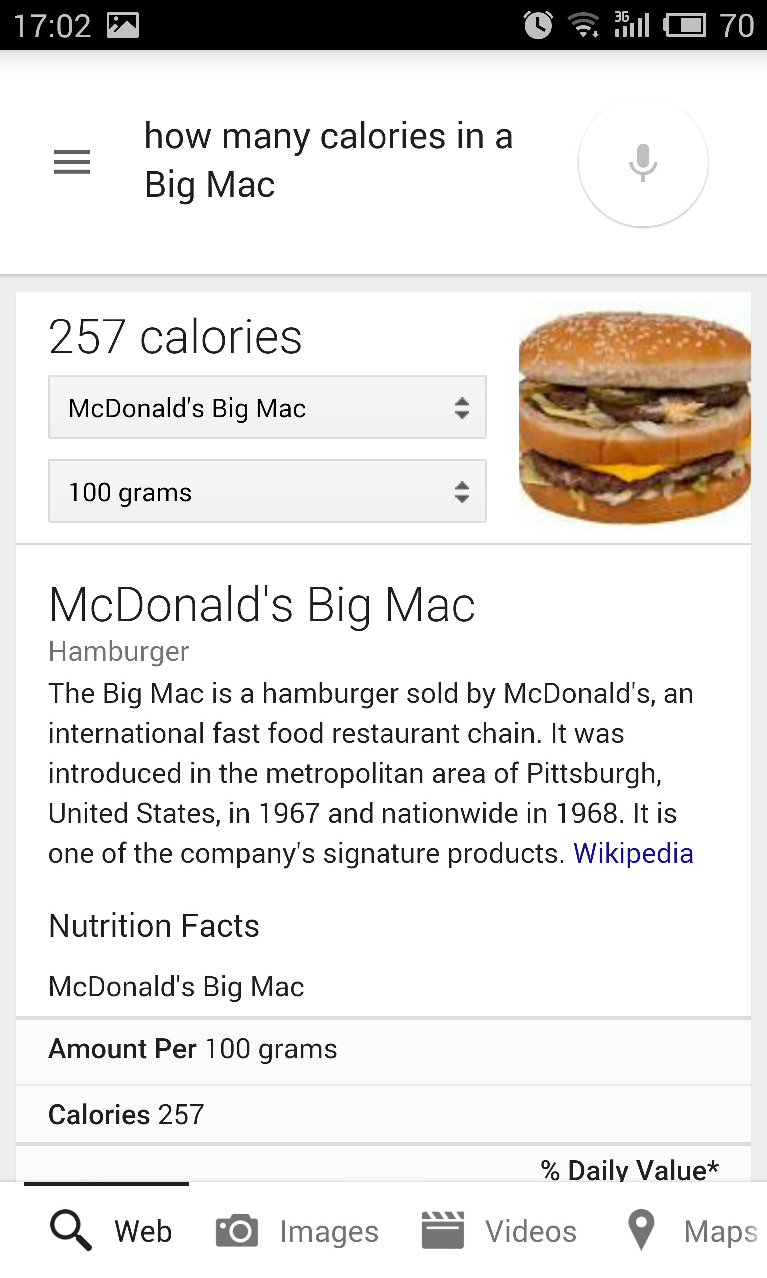 Big Number Of Calories In Fast Food Items