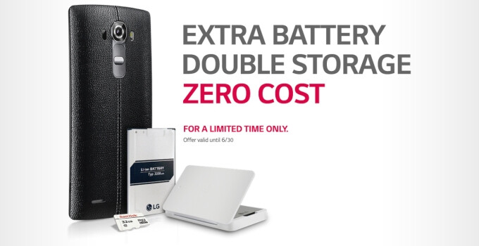 LG extends extra battery and microSD card special promotion for LG G4 customers until June 30th