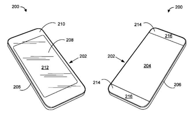Image from Apple's patent application - Apple files for a patent on a material that looks like metal, but allows for wireless reception