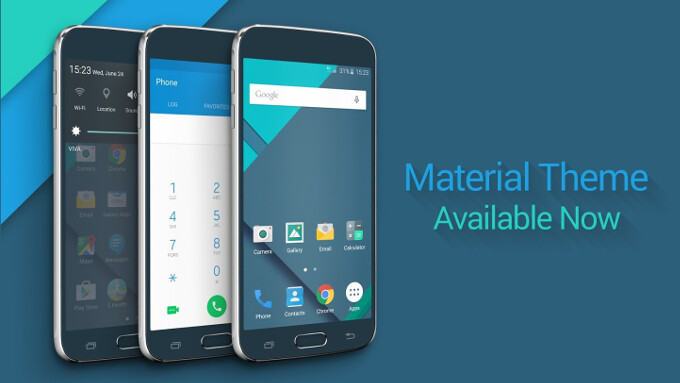 The first ever Material Design theme for Galaxy S6 and S6 edge is available now!