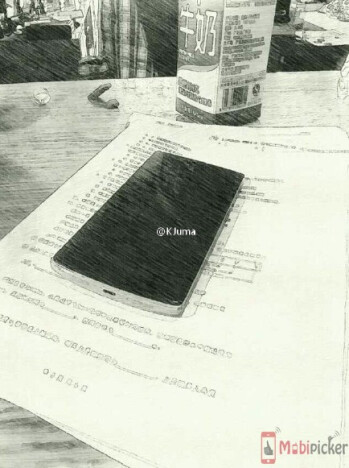 Spy sketch allegedly showing the OnePlus 2