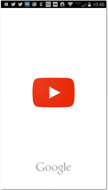YouTube splash screen - Splash screens on updated Google apps turn into a place for the company to push its brand