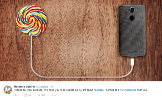 Motorola signals the imminent arrival of Android 5.1 for the Motorola DROID Turbo - Motorola signals imminent arrival of Android 5.1 for the Motorola DROID Turbo
