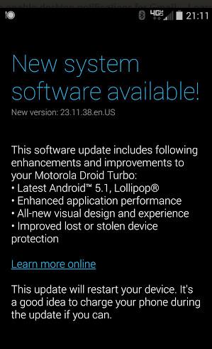 Report: Android 5 1 soak test has begun for Motorola DROID