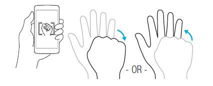 Camera tips — Gesture shot