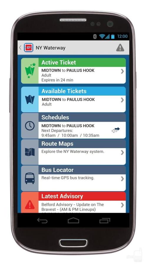 NY Waterway app