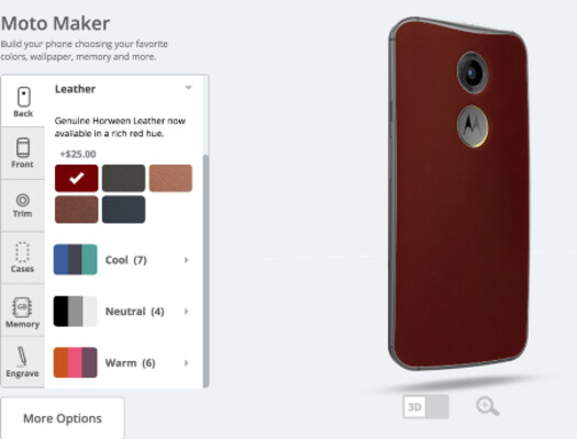 Until July 7th, order the second-gen Motorola Moto X from the Moto Maker and get a free red leather back - From now through July 7th, buy the second-gen Motorola Moto X and get a free red leather back
