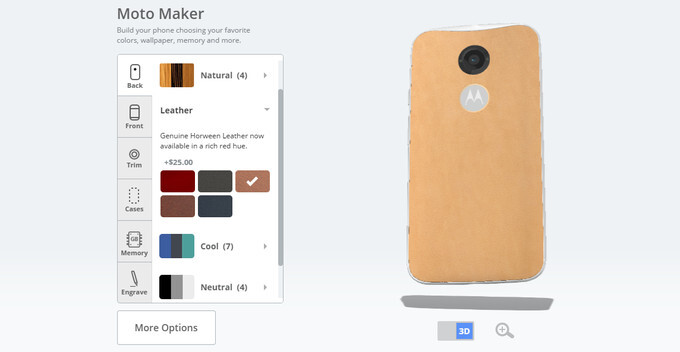 Moto Maker - Motorola's personalization service for the Moto X - Motorola Moto X (2015) rumor round-up: design, specs, price, release date, and all we know so far