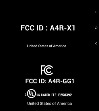 The upper half is the e-label as found in the first generation of Google Glass regulatory information. Below is the e-label filed by Google with the FCC last month.
