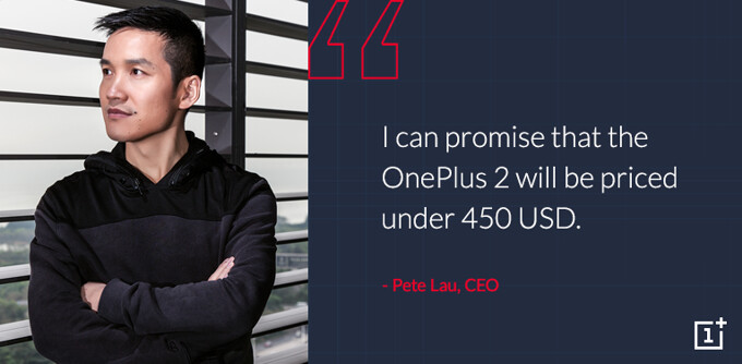 OnePlus 2 price confirmed to be under $450