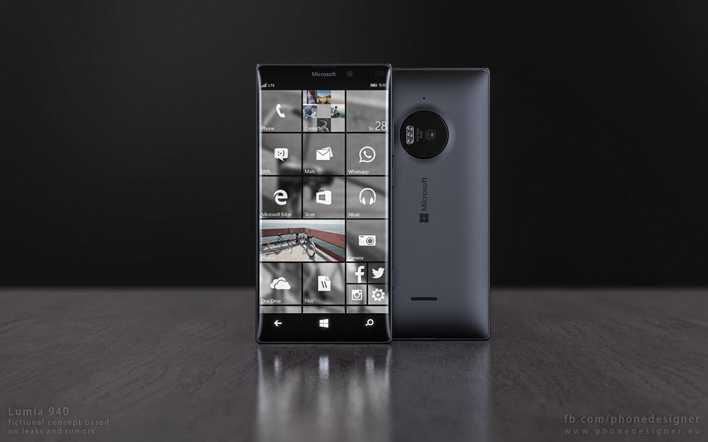 This Microsoft Lumia 940 Concept Makes Windows 10 Mobile
