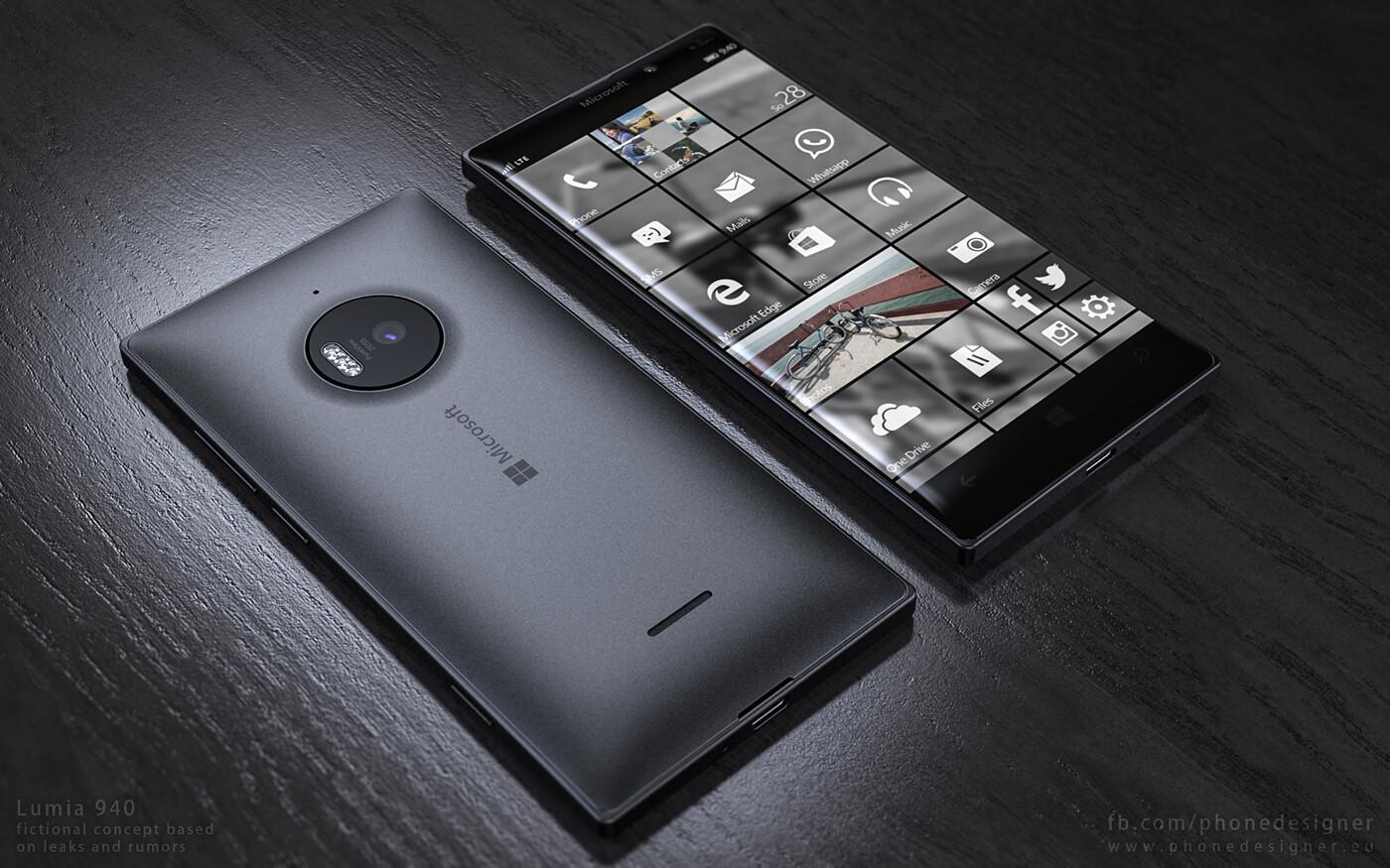 This Microsoft Lumia 940 concept makes Windows 10 Mobile ...