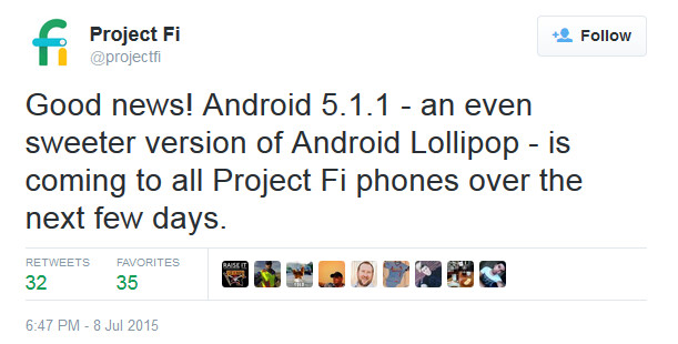 Project Fi will soon update its version of the Nexus 6 to Android 5.1.1 - Project Fi version of Nexus 6 will receive Android 5.1.1 very soon