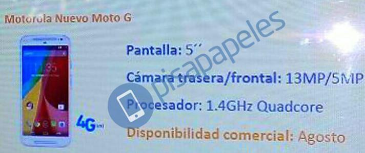 Motorola Moto G (2015) renders leak out