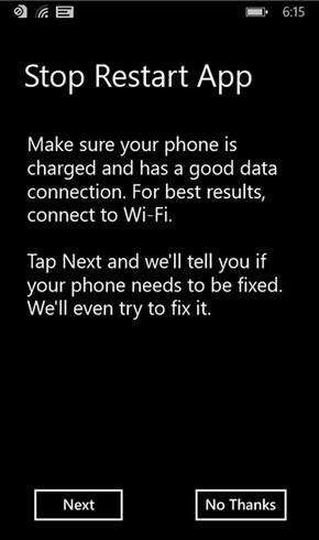 The Stop Restart App will stop your Windows Phone 8.1 model from randomly rebooting - Stop Restart App listed in Windows Phone Store to stop Windows Phone 8.1 models that randomly reboot