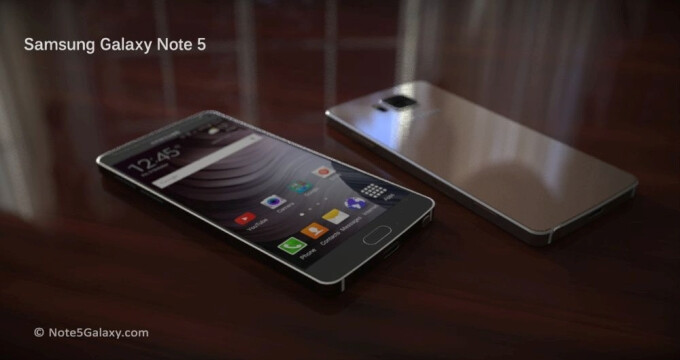 A fan-made render of the Samsung Galaxy Note 5 - More sources confirm that the Galaxy Note 5 and Galaxy S6 edge+ will be announced on August 12