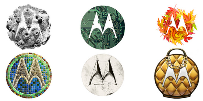 Examples of the Motorola batwing logo - Win a Motorola Moto 360 from Motorola (U.S. only)