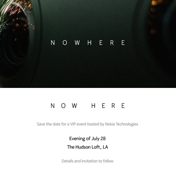 Nokia will hold a mystery VIP event in Los Angeles on July 28, could be related to HERE Maps