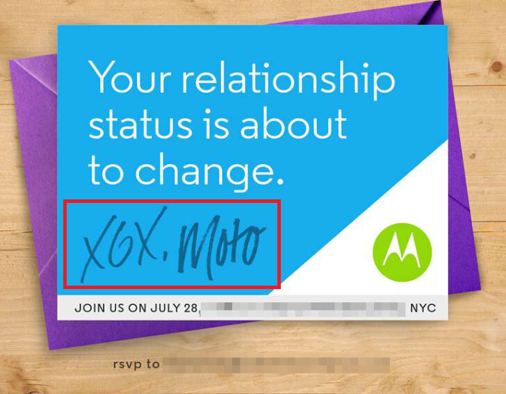 Motorola's invitation to July 28th event hints that there will be two versions of the third-gen Moto X introduced during the festivities - Invitation to July 28th event confirms that two Motorola Moto X models will be announced