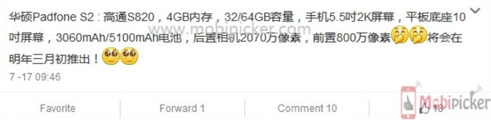 Rumored specs for the Asus PadFone S2 leak - Snapdragon 820 powered Asus Padfone being prepped for March release?