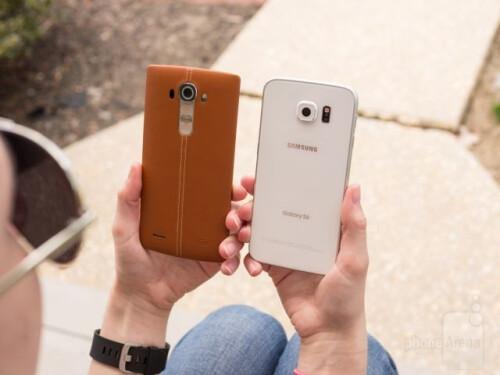 LG G4 vs Galaxy S6 design images