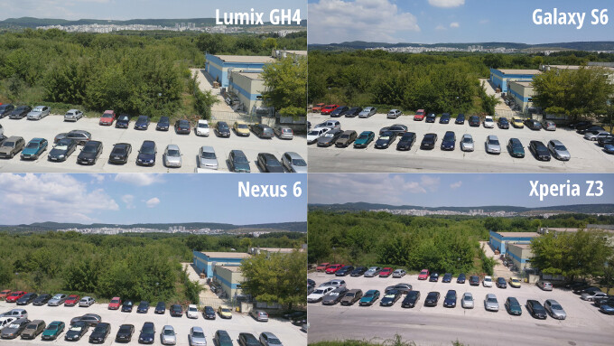 Thumbnails of all four snapshots. Notice that the differences in framing are due to different optics. - Smartphones are catching up with $2,000 cameras in terms of video recording, and here's the proof