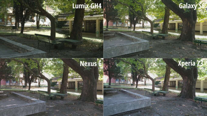 Thumbnails of all four snapshots. Notice that the differences in framing are due to different optics - Smartphones are catching up with $2,000 cameras in terms of video recording, and here's the proof