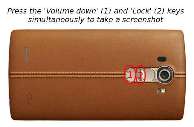 How to take a screenshot on the LG G4