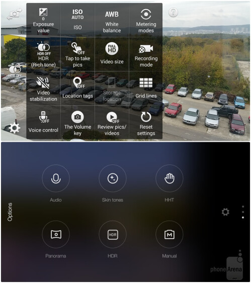 Galaxy Note 4 (above) vs Xiaomi Mi Note Pro (below)