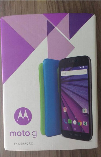 Box for third-generation Motorola Moto G