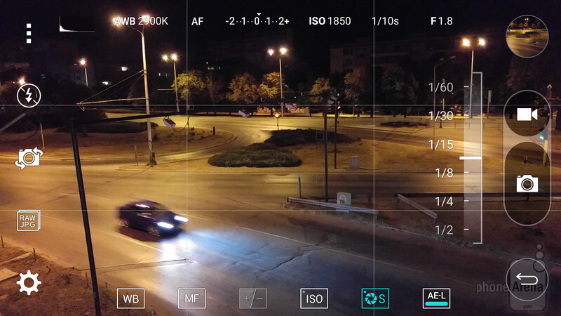 The manual camera mode on the LG G4. Shutter speed, ISO, focus, and white balance can be controlled independently - How to use the LG G4 and manual camera controls to take awesome artistic photos
