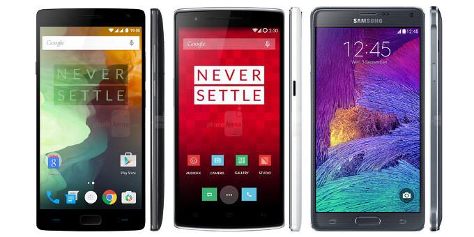 OnePlus 2 vs OnePlus One vs Samsung Galaxy Note 4: specs comparison