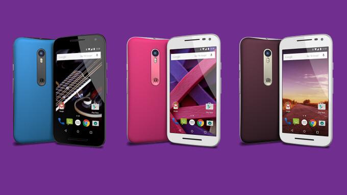 Motorola Moto G 2015 vs Moto G LTE (2014) vs Moto G LTE (2013): specs comparison