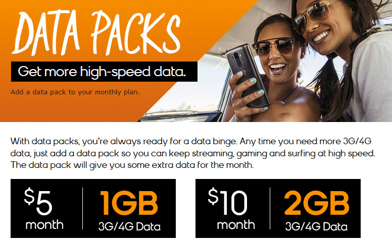 The Data Packs offered by Boost Mobile are also available from Virgin Mobile - Boost Mobile and Virgin Mobile now offer 1GB and 2GB Data Packs to keep you from the horrors of 2G
