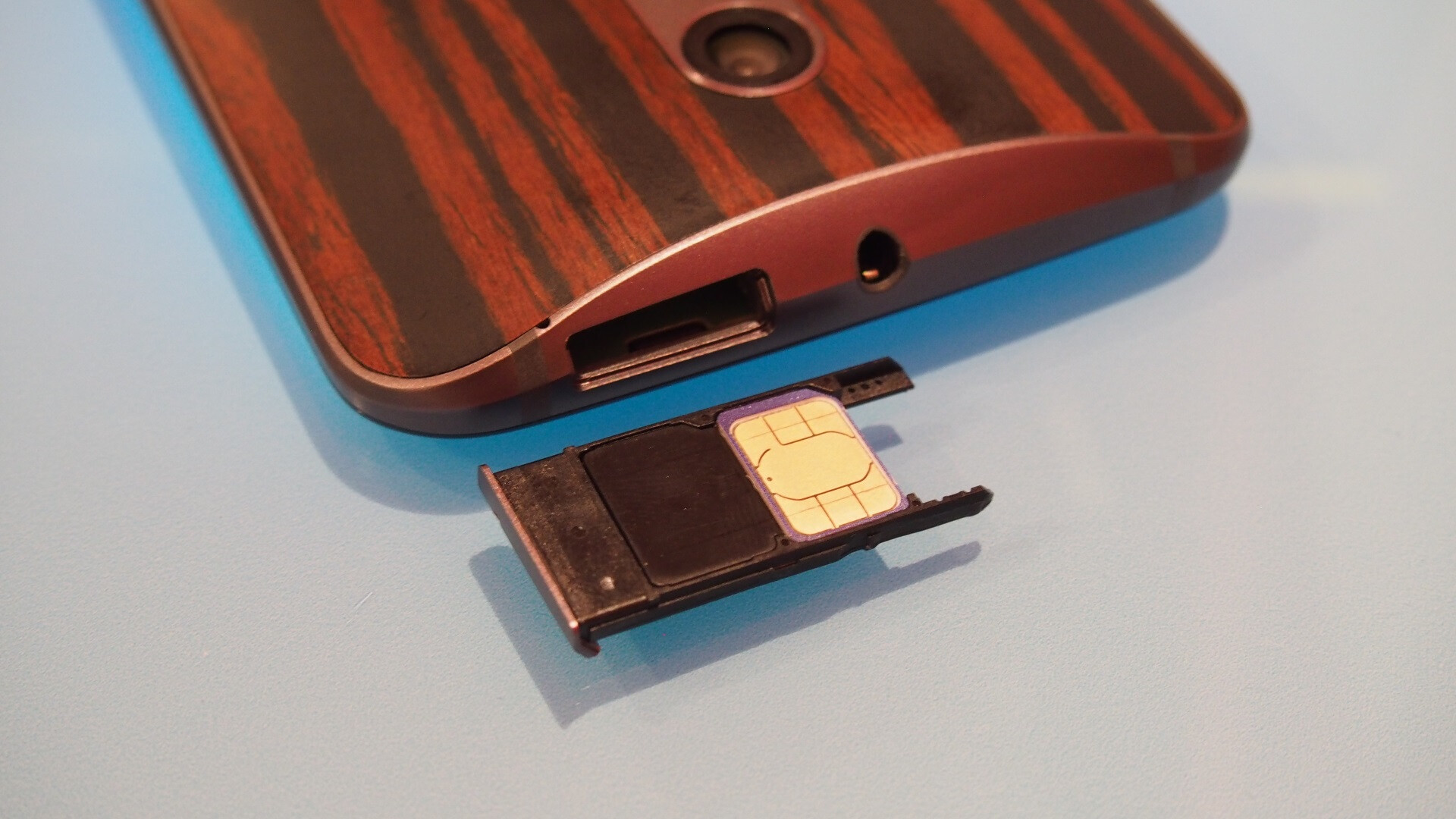 A microSD card slot