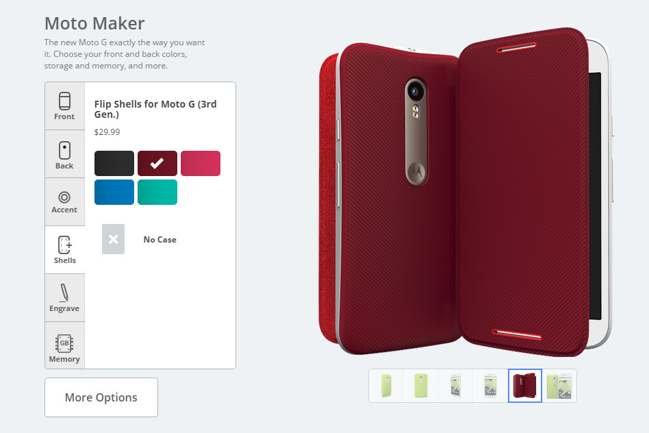 Vast customization options thanks to Moto Maker