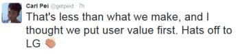 OnePlus CEO Carl Pei mocks LG's results