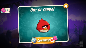 Gems are an in-app currency used to buy bird cards mid-game or extra lives