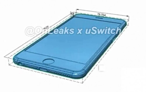 Leaked iPhone 6s schematics
