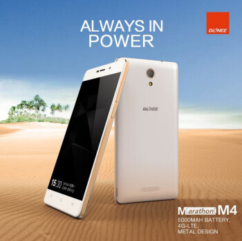 Gionee Marathon M4 comes with a 5000mAh battery