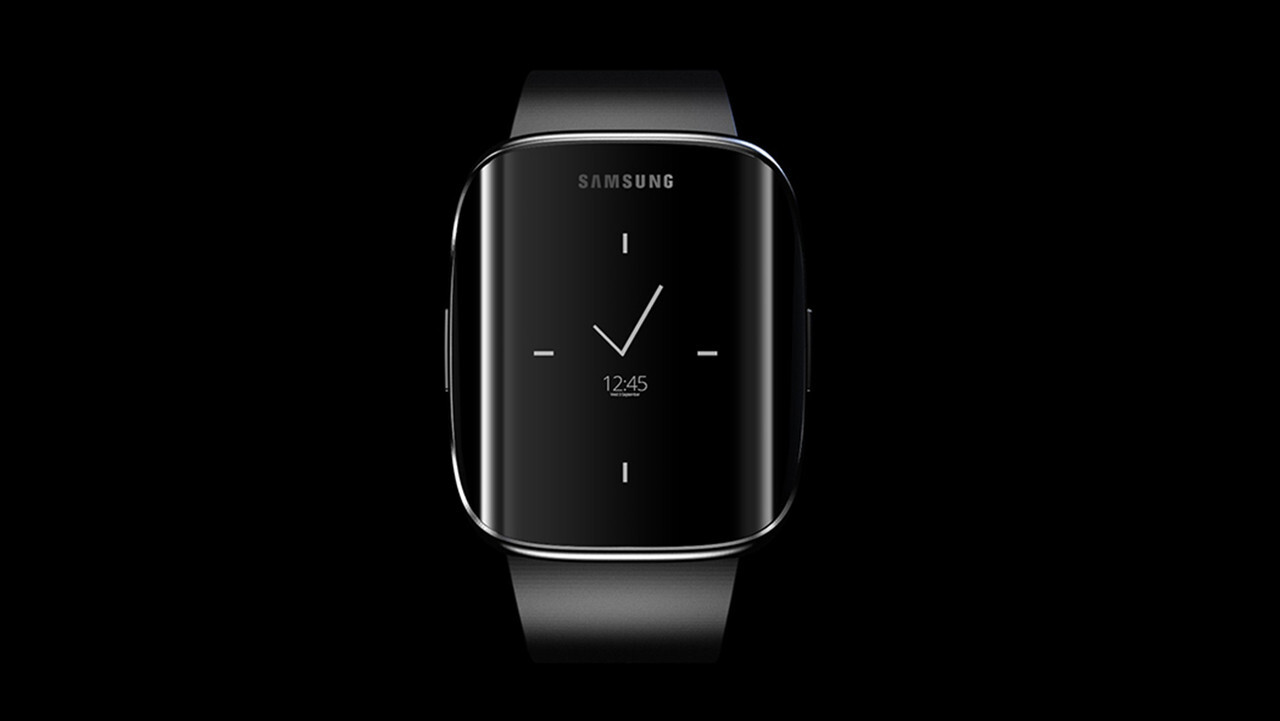 galaxy s6 edge smartwatch concept brings samsung 39 s curvaceous design langauge to wearables. Black Bedroom Furniture Sets. Home Design Ideas