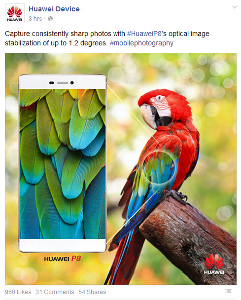 Huawei P8 promo image