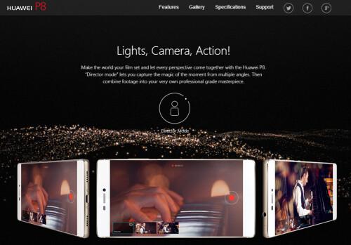 Huawei P8 promo images