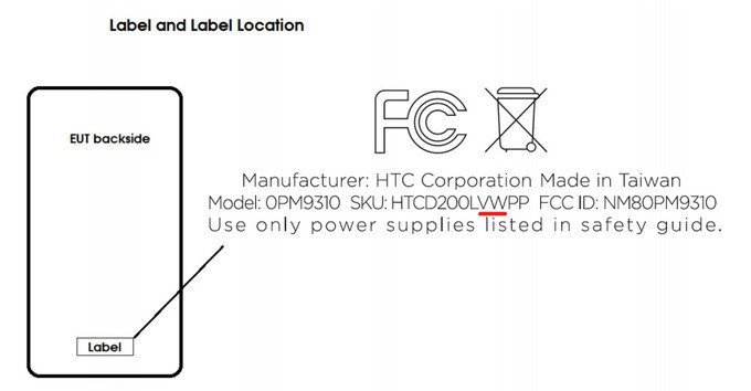 Mysterious HTC smartphone for Verizon pops up at the FCC