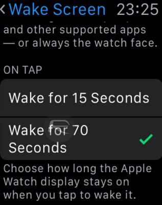 Mantenete il vostro display dell'orologio appena svegliato su per 70 secondi