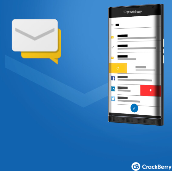 Render shows BlackBerry Hub running on Android