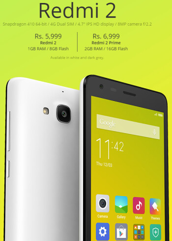 Xiaomi Redmi 2 Prime is official with twice the memory, still hovering around $100