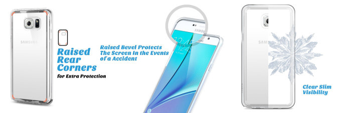 Ulak's Clear Slim range - Samsung's upcoming Galaxy Note 5 gets rendered with cases from Ulak